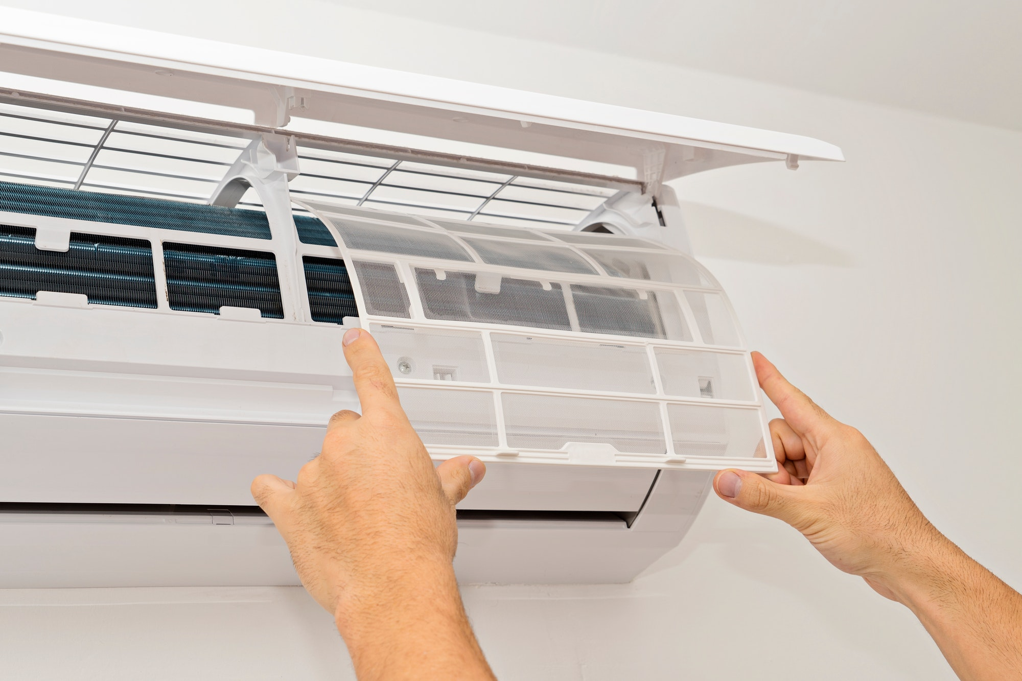 Changing the filter of the air conditioner